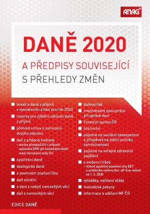 DANĚ 2020 A PŘEDPISY SOUVISEJÍCÍ